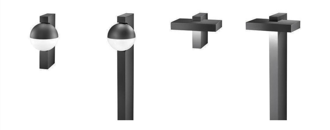 Hess Avangardo2: Bollards and wall mounted Luminaires