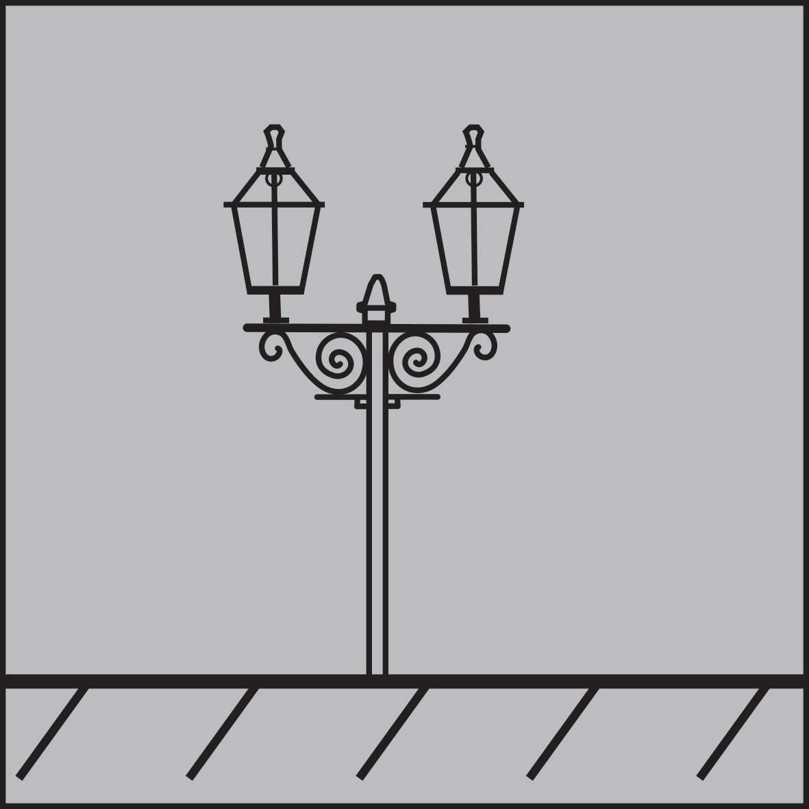 Heritage street lighting fittings with LED