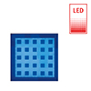 effect lighting HESS Ledia LF illuminating tile